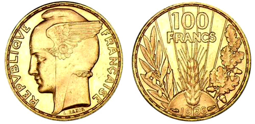 100 Francs or 1934 Bazor