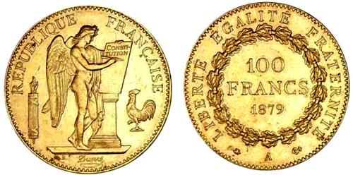 100 Francs or 1879 Genie
