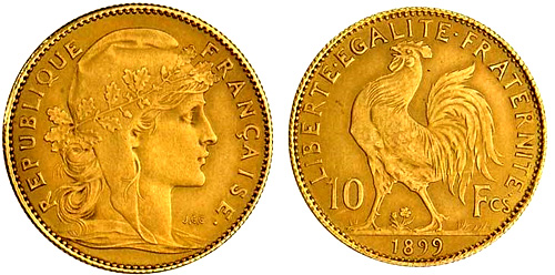 10 Francs or 1908 Marianne
