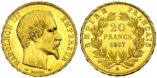 20 Francs Or 1860 Cours De Piece En Or Site Officiel Cours De L