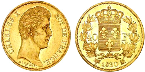 40 Francs or 1829 Charles X