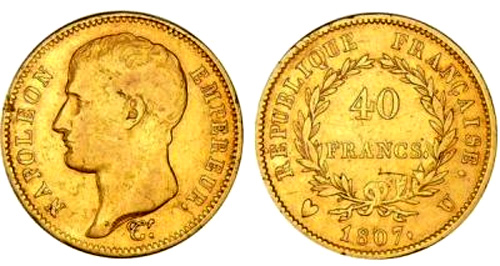 40 Francs or 1807 Type transitoire